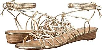 Elie Tahari Womens TA-Caper Wedge Sandal, Gold, 7 Medium US