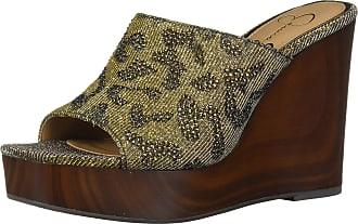 Jessica Simpson Womens Shantell2 Slide Sandal, Bronze Multi, 6 UK