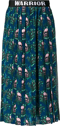 John Richmond contrast panels pleated skirt - Azul