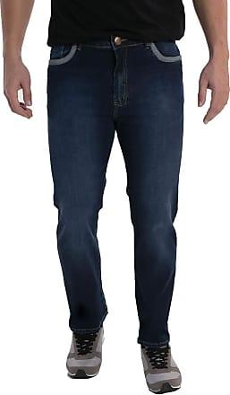 Eventual Calça Jeans Mid Rise Slim Fit Homen, 40, Azul