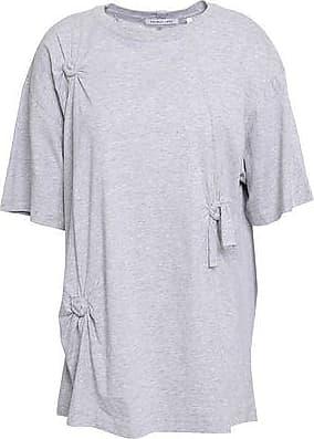 e31b9b423f8d48 Helmut Lang Helmut Lang Woman Oversized Knotted Cotton-jersey T-shirt Light  Gray Size
