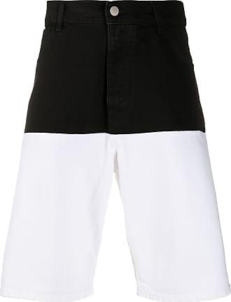 Raf Simons two-toned denim shorts - Black