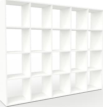 MYCS Bücherregal Weiß - Modernes Regal für Bücher: Hochwertige Qualität, einzigartiges Design - 195 x 157 x 35 cm, Individuell konfigurierbar