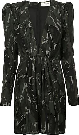 b8a75a8d1d7 Saint Laurent camouflage long-sleeve mini dress - Black