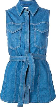 Victoria Beckham sleeveless denim shirt - Blue