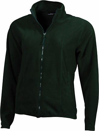 James & Nicholson JN049 Womens Girly Micro Fleece Full Zip Jacket Dark Green Size L