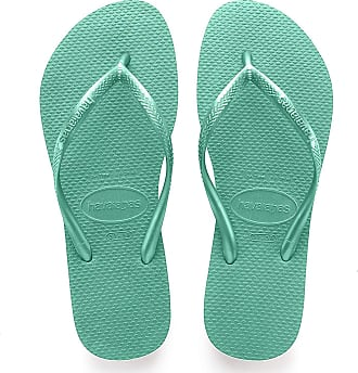 Havaianas Womens Slim Flip Flops, Green (Mint Green/Mint Green 9460), 5 UK