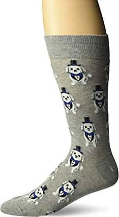 Hot Sox Mens Wedding Bliss Novelty Casual Crew Socks, Tuxedo dog (grey Heather), Shoe Size: 6-12