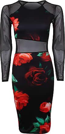 Neu Damen Rückenfrei Promi Partykleider Stift Bodycon Midi Stretch Kleid