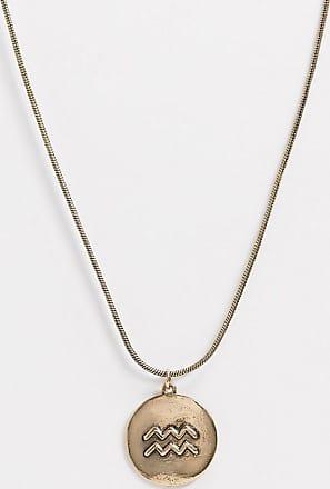 7X SVNX Aquarius horoscope necklace-Gold