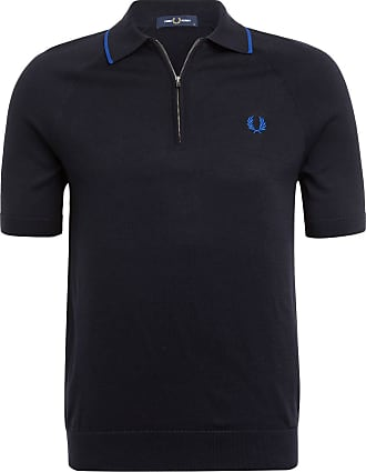 Fred Perry Strick-Poloshirt - DUNKELBLAU