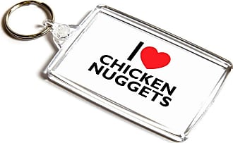 ILoveGifts KEYRING - I Love Chicken Nuggets - Novelty Food & Drink Gift