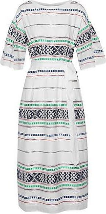 Joie Joie Woman Lilianaly Belted Embroidered Cotton-gauze Midi Dress White Size XXS
