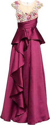 Marchesa Marchesa Notte Woman Embellished Tulle And Duchesse-satin Gown Plum Size 2