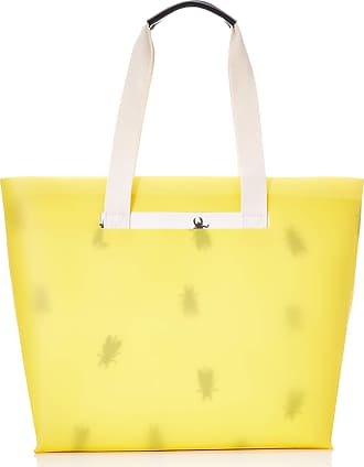 FLY London Womens Zime691fly Tote Yellow (Yellow/Offwhite)