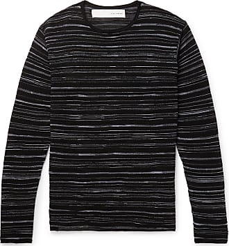Isabel Benenato Slim-fit Striped Knitted Sweater - Black