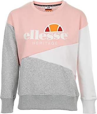 Sportswear ellesse Wns SW Col Rond Tricolore Rose Gris Sweat