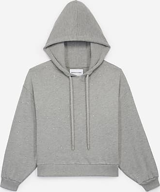 The Kooples Graues Kapuzensweatshirt mit Allover-Strass - HERREN