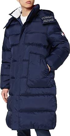 Tommy Jeans Mens TJM Long Padded Parka Jacket, Blue (Black Iris Cbk), Medium