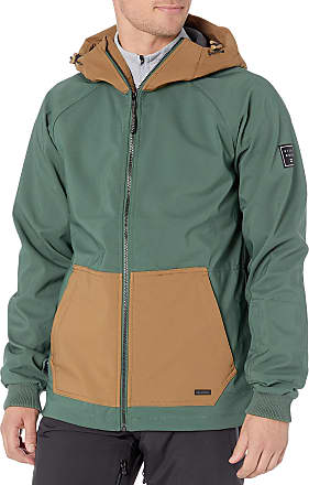 Billabong Mens Downhill Softshell Snowboard Jacket Insulated, Forest, Small