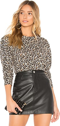 Rebecca Taylor Leopard Sweater in Brown
