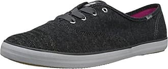 Keds Womens Champion Jersey Glitter, Charcoal, 11 B - Medium