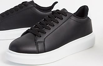 Brave Soul Schwarze Sneaker mit breiter Sohle in kontrastierendem Weiß