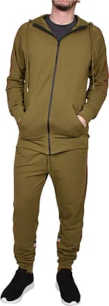 True Face Mens Tracksuit Full Zip Hoodie Elasticated Trouser Joggers Sports Track Suit Running Workout Jogging Fitness MG22 Olive 2XL