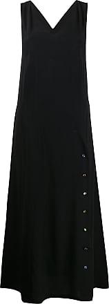 Frankie Morello Vestido longo com alças posteriores cruzadas - Preto
