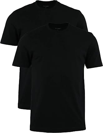 Olymp T-Shirt black roundneck twin pack, XXL