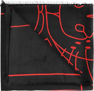 Givenchy Patterned Shawl Womens Black