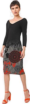 Desigual Vestido Desigual Midi Florencia Preto