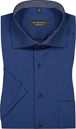 Eterna Kurzarmhemd mit Brusttasche, Comfort Fit von Eterna in Royal für Herren