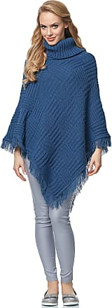 Merry Style Womens Poncho MSSE0038 (Jeans, L/XL)