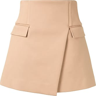 Dion Lee asymmetric mini skirt - Neutrals
