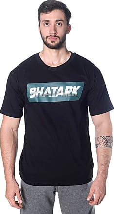 Shatark Camiseta Large Fast - Preto (GG)