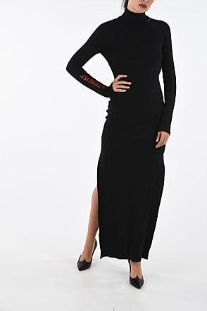 Marcelo Burlon Double Split-Side Hem Ribbed Dress size S