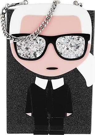 Karl Lagerfeld Ikonik Karl Minaudiere Black Umhängetasche schwarz
