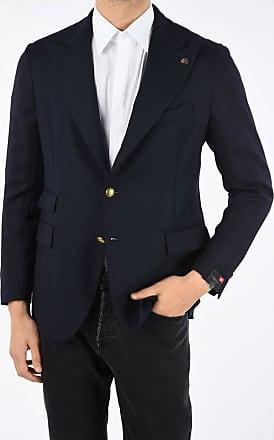 Lardini bouclé wool peak lapel 3-button blazer size 52