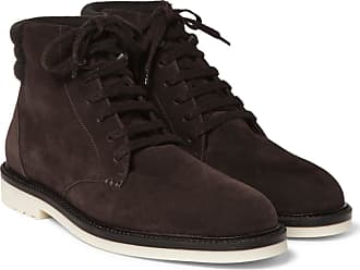 Loro Piana Icer Walk Cashmere-trimmed Suede Boots - Chocolate