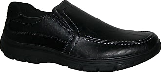 Cushion-Walk Mens Lightweight Casual Shoes, Slip ON and Velcro BAR Strap LS27 Black 10