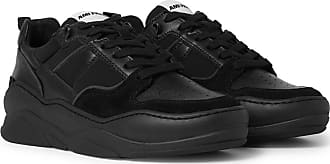 Ami Suede And Leather Sneakers - Black