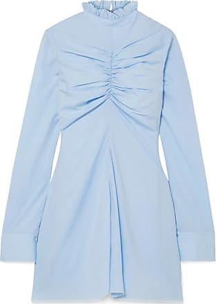 12c5aef863bf86 Marques Almeida Ruched Tencel Mini Dress - Sky blue