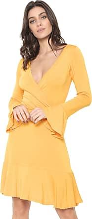 Nolita Lace Vestido Nolita Curto Transpassado Amarelo