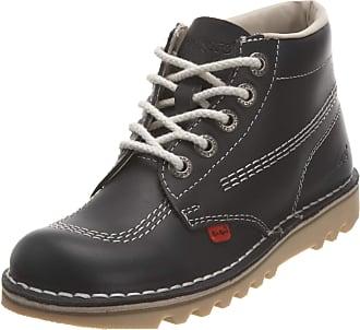 Kickers Kick Hi Navy Natural Leather Womens Mid Boots