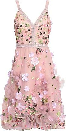 Marchesa Marchesa Notte Woman Lace-trimmed Embellished Tulle Dress Baby Pink Size 10