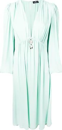 Elisabetta Franchi plunge-neck dress - Blue
