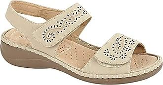 Boulevard Womens/Ladies Touch Fastening Halter Back Sandals (3 UK) (Beige)