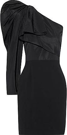 28f3d5978d3 Stella McCartney Stella Mccartney Woman One-shoulder Duchesse-satin And  Cady Mini Dress Black