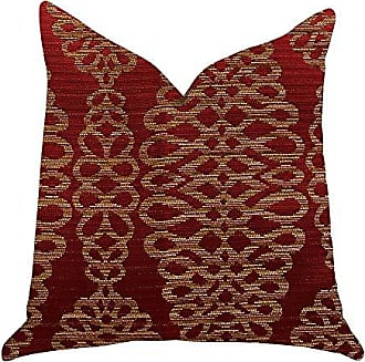 Plutus Brands Sweet Henna Double Sided Luxury Throw Pillow 12 x 25 Red/Gold